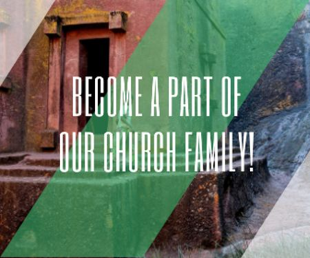 Template di design Become a part of our church family Large Rectangle
