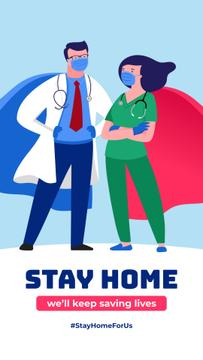 #StayHomeForUs Doctors in Superhero costumes