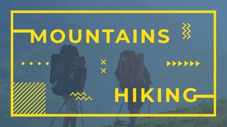 Travel Inspiration with Backpackers in Mountains FB event cover – шаблон для дизайну