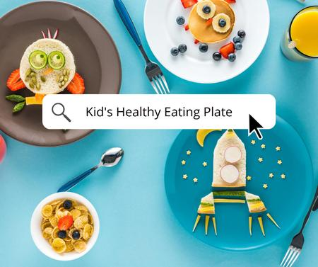 Kid's Healthy eating in Plates Facebook – шаблон для дизайну