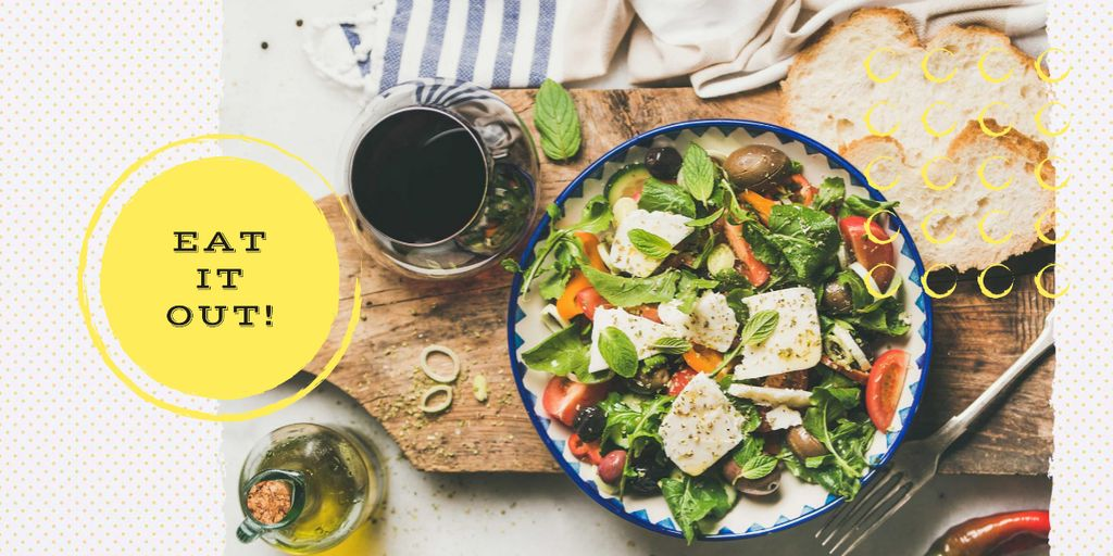Template di design Meal with greens and vegetables Image