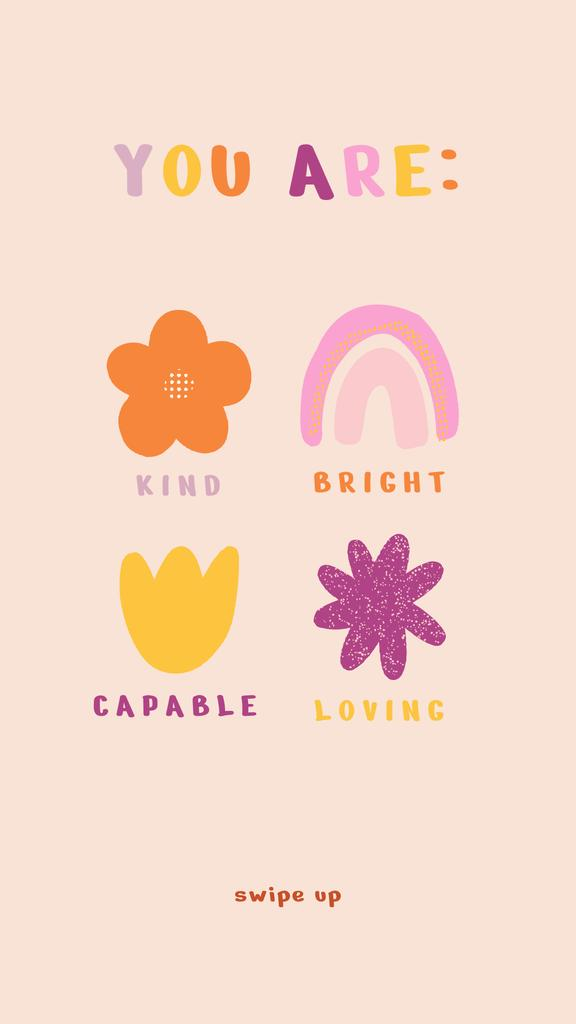 Mental Health Cute Inspiration Instagram Story – шаблон для дизайну