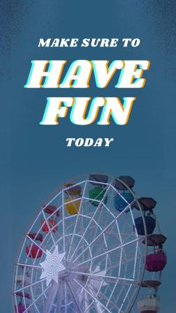 Designvorlage Inspiration for Amusement with Ferris Wheel für Instagram Video Story