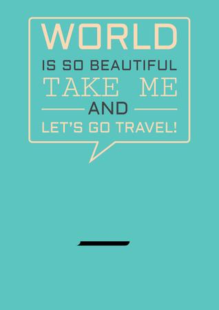 Plantilla de diseño de Motivational travel Quote Poster