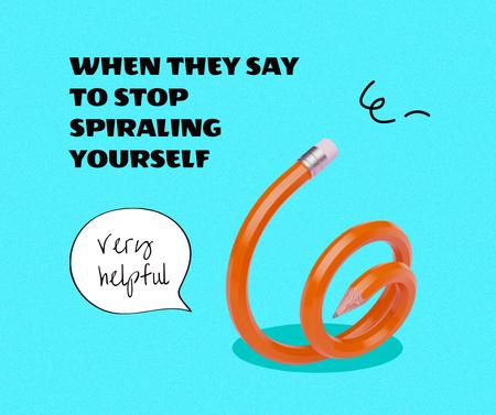 Plantilla de diseño de Rubber Pencil for anxiety joke Facebook