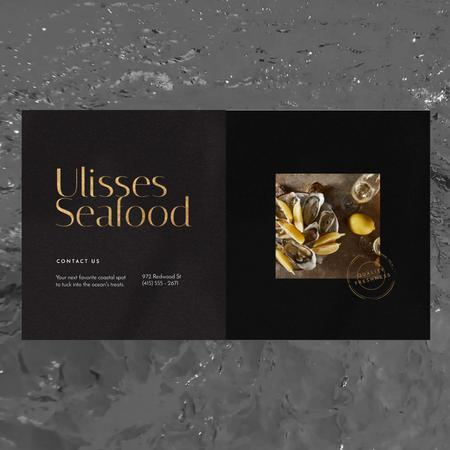 Plantilla de diseño de Seafood Bar Promotion Oysters on a Plate Animated Post