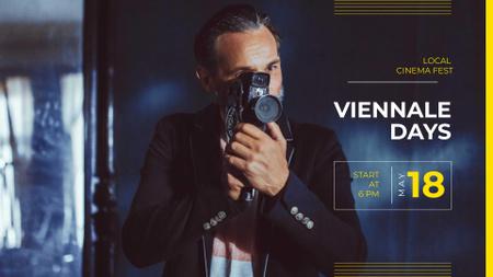 Plantilla de diseño de Local Cinema Fest Announcement with Film Director FB event cover