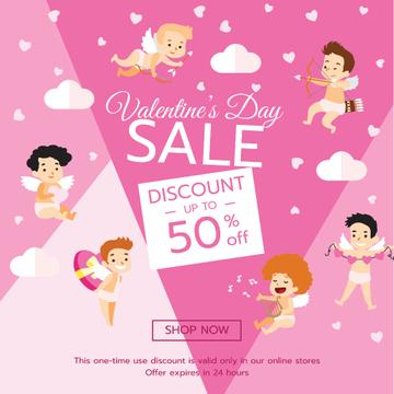 Valentine's Day funny Cupids in Pink