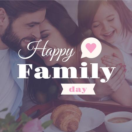 Template di design Happy Family Day with Family on Breakfast Instagram