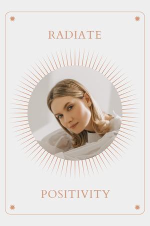 Mental Health Inspiration with Woman in Sun Frame Pinterest Modelo de Design