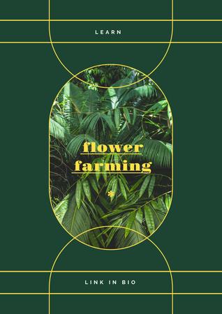 Plantilla de diseño de Flowers and Plants in Greenhouse Poster