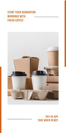 Platilla de diseño Online ordering Offer with Coffee to go Graphic