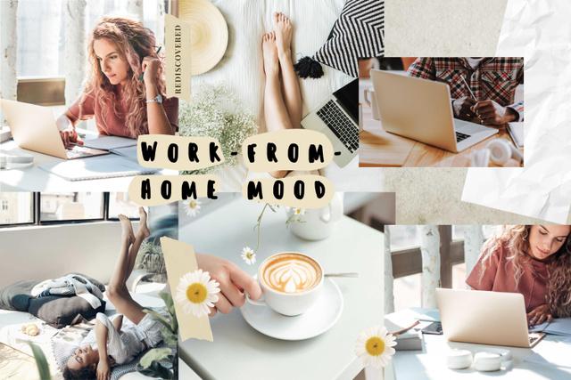 Cozy Workplace at home Mood Board – шаблон для дизайну