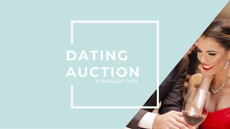 Ontwerpsjabloon van Youtube van Dating Auction in Cafe