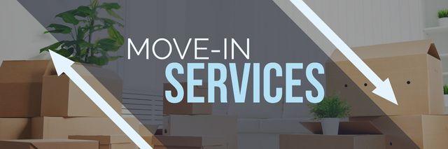 Plantilla de diseño de move-in services poster Twitter
