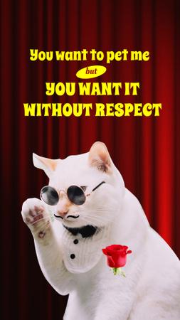 Designvorlage Cute Cat as a crime boss für Instagram Story