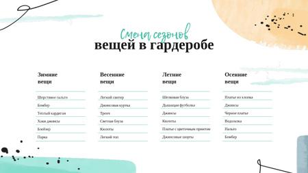 Fashion Wardrobe Makeover plan Mind Map – шаблон для дизайна