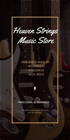 Template di design Guitars in Music Store Graphic