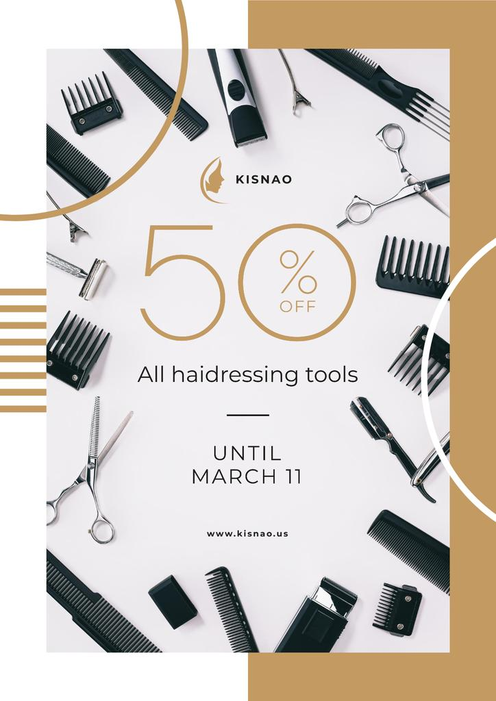 Hairdressing Tools Sale Announcement — Створити дизайн