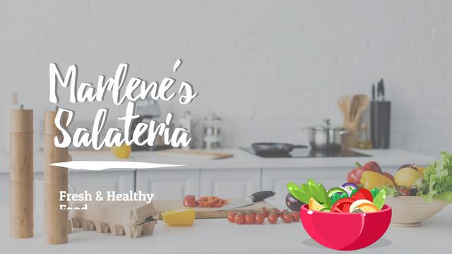 Cooking healthy vegetable salad Full HD video – шаблон для дизайну