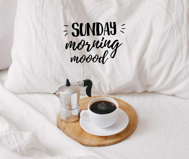 Template di design Weekend Morning Coffee in bed Facebook