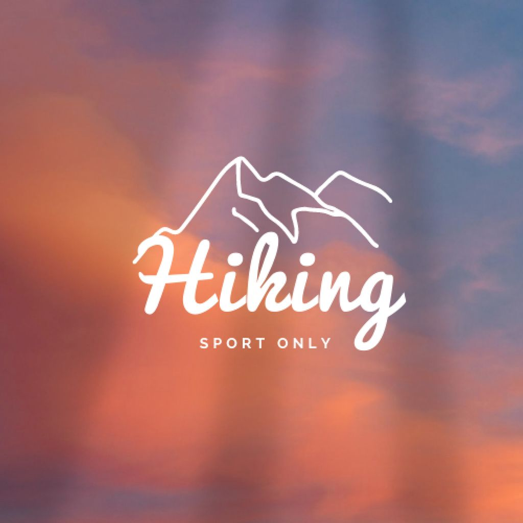 Hiking Tours Offer with Mountain Illustration Logo – шаблон для дизайну