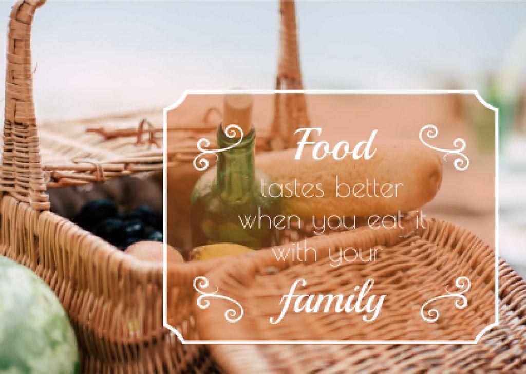 Ontwerpsjabloon van Card van Picnic Basket with Food