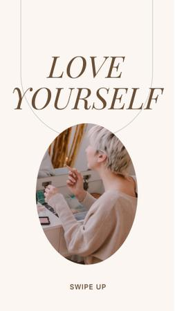 Template di design Girl Power Inspiration with Young Woman Instagram Story