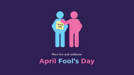 Ontwerpsjabloon van FB event cover van April Fool's Day with People making Pranks