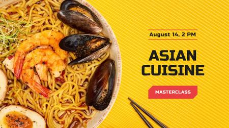 Modèle de visuel Asian Cuisine Dish with Noodles - FB event cover