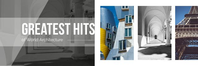Paris traveling spots Twitter Modelo de Design