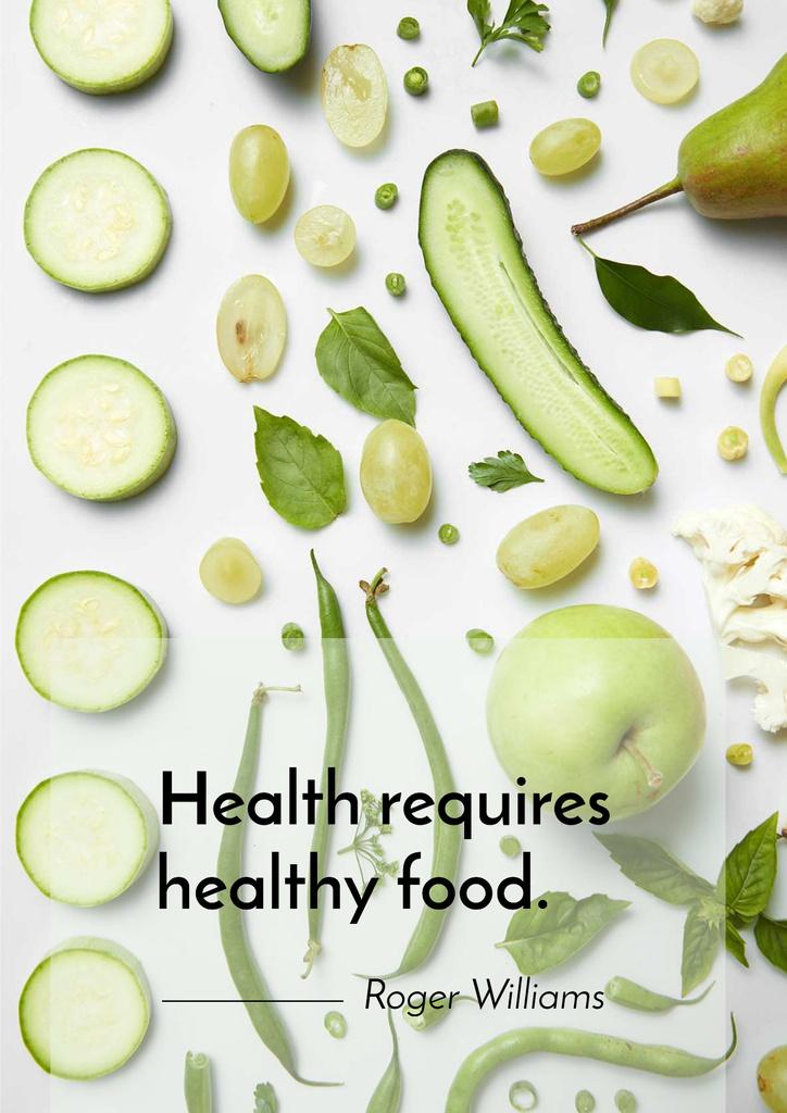 Healthy nutrition concept — Maak een ontwerp