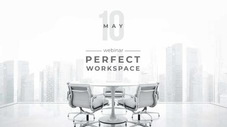 Workspace on City Background FB event cover – шаблон для дизайна