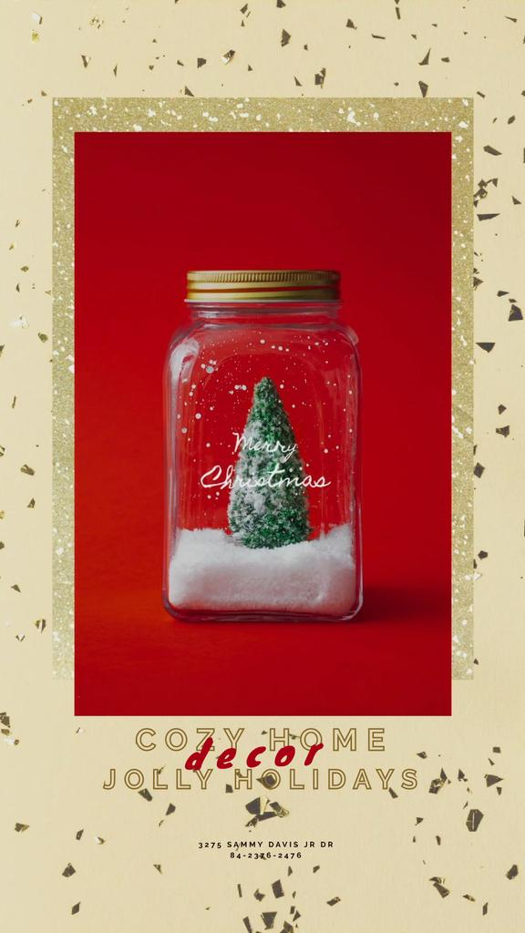 Christmas Greeting with Tree in Jar —デザインを作成する