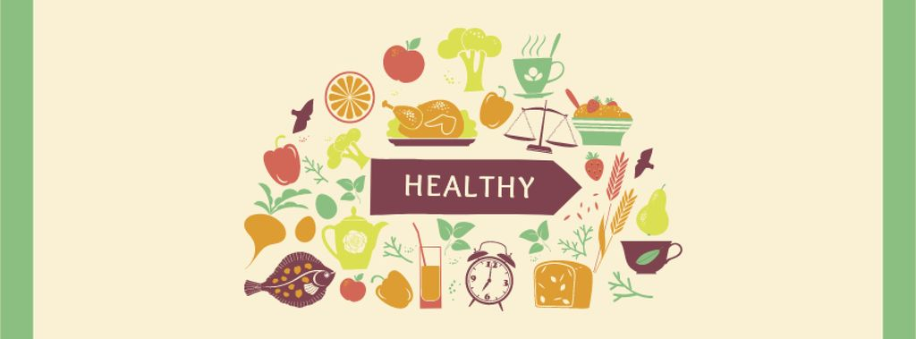 Healthy Lifestyle Attributes Icons — Créer un visuel