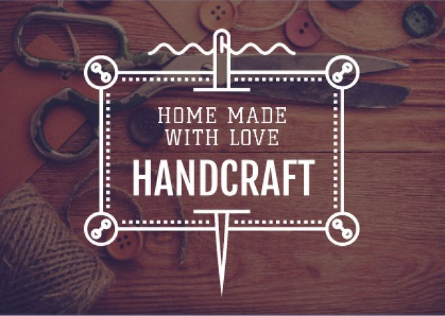 Advertisement for store of handcrafted goods Card Modelo de Design
