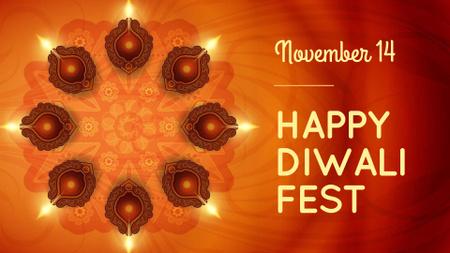 Ontwerpsjabloon van FB event cover van Diwali Festival Announcement with Candles