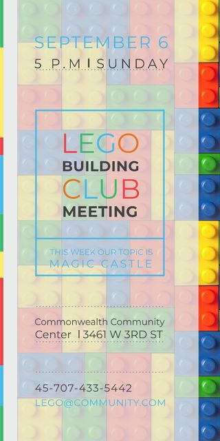 Lego Building Club Meeting Graphicデザインテンプレート