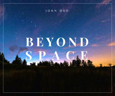Plantilla de diseño de Beautiful Night Forest Landscape Facebook