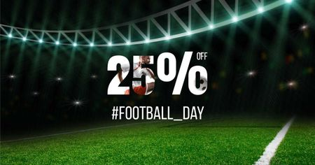 Football Day Discount Offer Facebook AD Design Template
