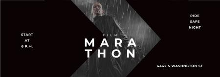 Film Marathon Ad Man with Gun under Rain Tumblr – шаблон для дизайну