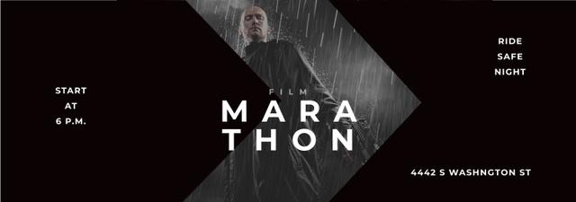 Modèle de visuel Film Marathon Ad Man with Gun under Rain - Tumblr