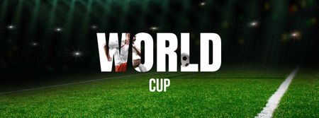 World Cup Event Announcement Facebook cover Design Template