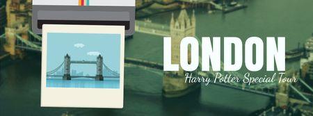 Modèle de visuel London famous travelling spots - Facebook Video cover