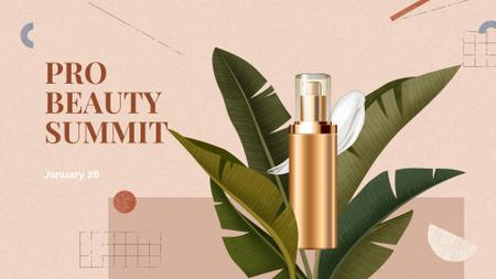 Skincare product for Beauty Summit FB event coverデザインテンプレート