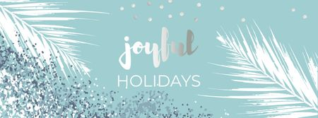 Modèle de visuel Winter Holidays greeting - Facebook cover