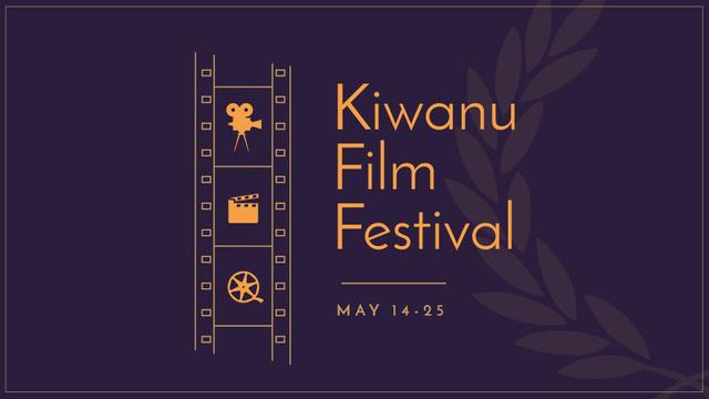 Ontwerpsjabloon van FB event cover van Film Festival Announcement with Movie Projector