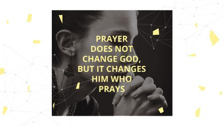 Plantilla de diseño de Religion Quote with Woman Praying FB event cover