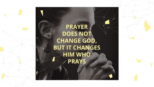 Designvorlage Religion Quote with Woman Praying für FB event cover