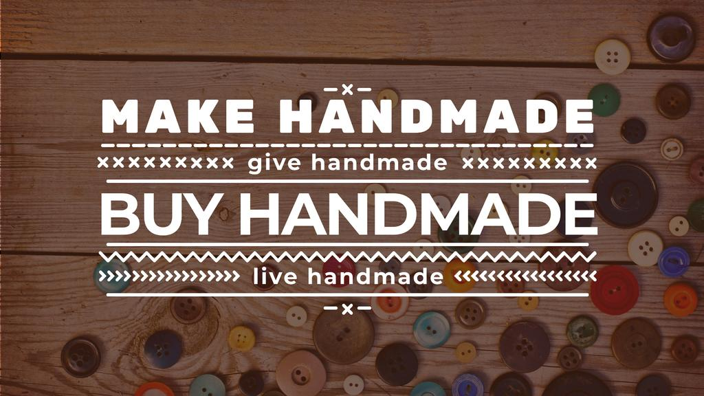 Handicrafts store with buttons Youtube Modelo de Design
